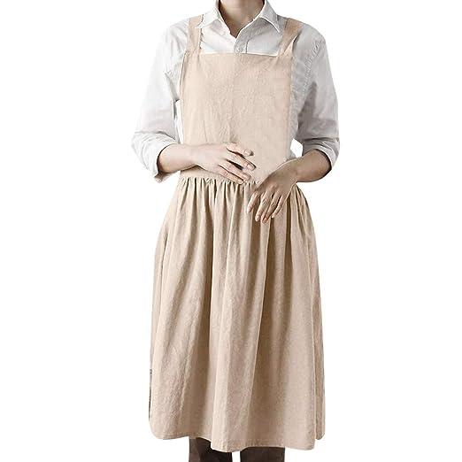 56dca94ee5 Amazon.com  Women Linen Sleeveless Home Cooking