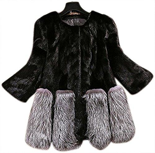 中庭まばたきお願いしますファーコート レディース 秋冬 毛皮コート フォックス ロングコート フェイクファー 上着 暖かい 防寒 お洒落 レディース 中綿コート ファーベスト フード付きなし  20代 30代 40代 50代