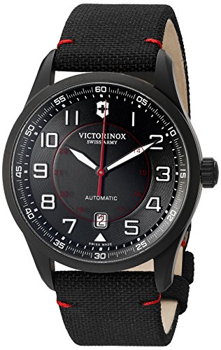 Victorinox Men's 'AirBoss' Swiss Stainless Steel Automatic Watch (Model: 241720) (Victorinox Watch Men Mach)