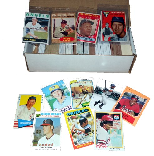 Baseball Card Starter Set 500 Cards Incl. 1950s-60s-70s-80s Book Value of at least - Cards Compare Store