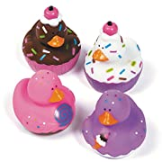12 Sweet Treat Cupcake Ice Cream Rubber Ducks by Oriental Trading Company