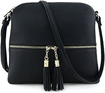 MKII Sadie Tassel Lightweight Faux leather Crossbody Bag