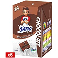 Safio UHT Chocolate Flavoured Milk, 6 x 125 ml