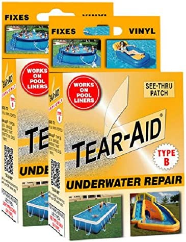 """Tear-Aid    Vinyl /& Vinyl Coated Products Repair Patch     Type B    1 1//4/"""" x 6/"""""""