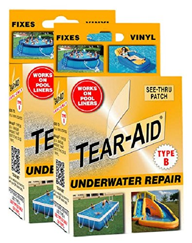 (Tear-Aid Vinyl Underwater Repair Kit, Orange Box Type B)