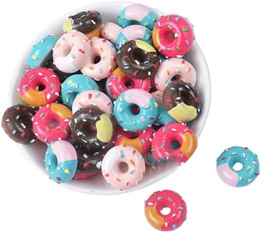 EXCEART 20Pcs Slime Charms Set Slime Beads Resina Donut Charms Botones Artesanales para Accesorios Artesanales Scrapbooking Decoración de La Caja Del Teléfono (Color Mezclado): Amazon.es: Hogar