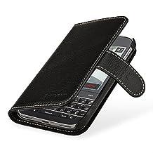 StilGut Talis, Genuine Leather Wallet Case, Cover for for BlackBerry Classic, Black