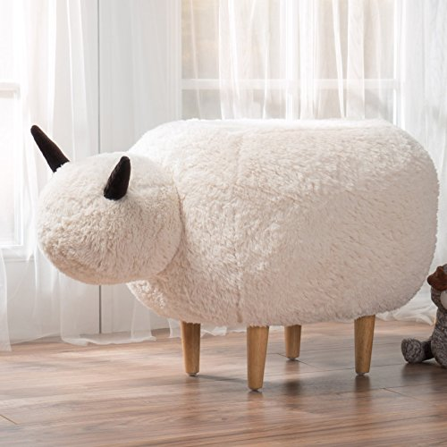 Christopher Knight Home Pearcy Velvet Sheep Ottoman