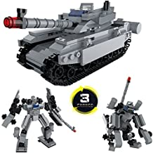 Freebex Military Combat Battle German Blitzkrieg Antiaircraft Tank Vehicle with Soldier Building Block Set-Tank For Kids Compatible LEGO-Great Gift for Children