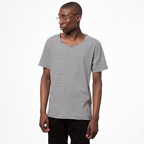 ThokkThokk Stripes Wide Neck Black/White Fairtrade GOTS, Größe:L