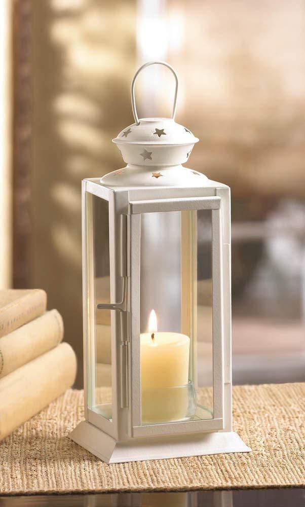 ROX Luxury House Star Tower Candle Lantern Wedding Flower Box Centerpiece Table Lamp Patio Light