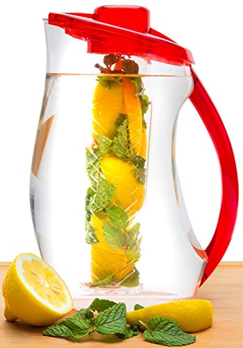 Infusion-Pitcher-Gourment-Recipe-eBook-Emailed-Gorgeous-Water-Infuser-Pitcher-with-the-Largest-Capacity-3-Liter-or-101oz-Enjoy-Endless-Infused-Creations