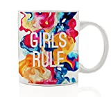 Girls Rule Mug, Colorful Rainbow Gift Idea Review and Comparison