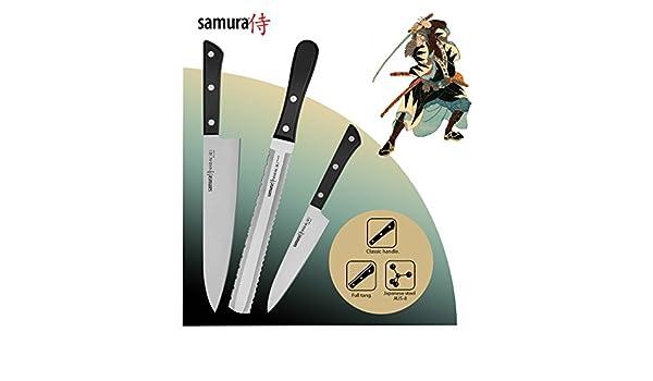 Samura HARAKIRI Set de 3 Cuchillos profesionales de cocina ...