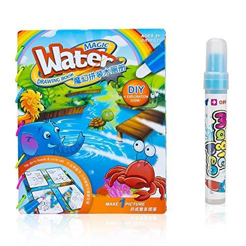 Animal -Water paint Coloring Book Magic Kids Water Drawing Book