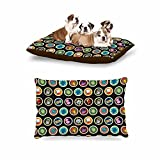 KESS InHouse Stephanie Vaeth ''Toys, Games & Candy'' Multicolor Pattern Dog Bed, 30'' x 40''
