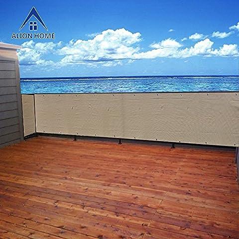 Alion Home Elegant Privacy Screen For Backyard Deck, Patio, Balcony, Fence, Porch. (35''x16') Banha (Outdoor Decor)
