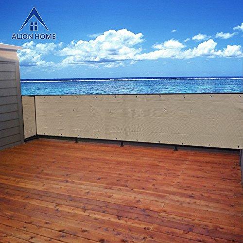 Alion Home Elegant Privacy Screen For Backyard Deck, Patio, Balcony, Fence, Porch. (35''x9'10'') Banha Beige