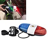 Police car lights- Police lights for car - Bicycle Bell 6LED 4Tone Bicycle Horn Bike Call Police Car LED Bike Light Electronic Siren Kids Accessories for Bike Scooter