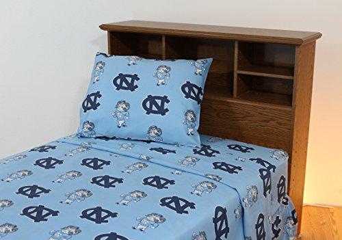 College Covers International North Carolina Tar Heels Printed Sheet Set - Twin - Solid ()
