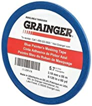 Painters Masking Tape, 60 yd.x1/8 in, Blue