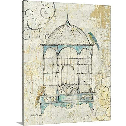 (Bird Cage IV Canvas Wall Art Print, 24