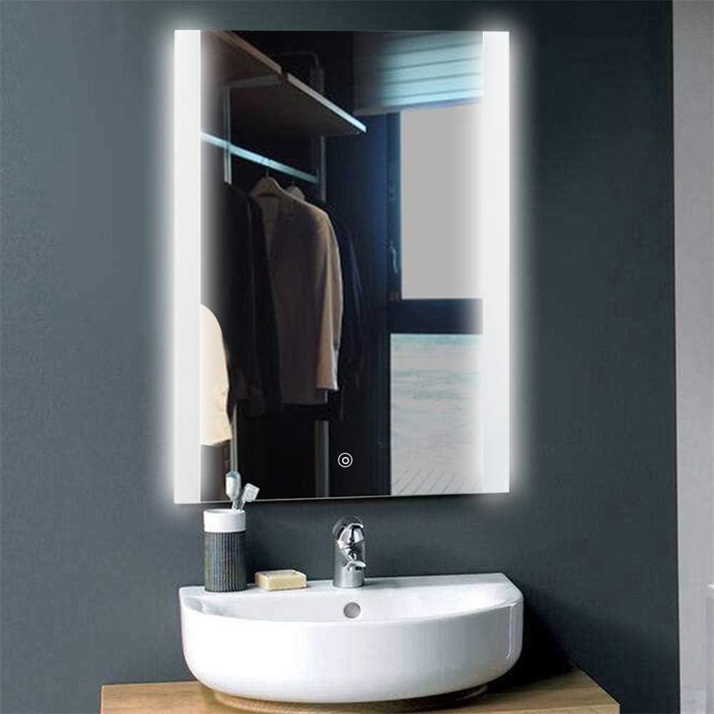 Specchio da bagno IP67 impermeabile 50 * 70 cm bianco freddo Specchio LED,9W