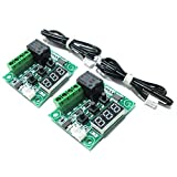 SODIAL 2x W1209 12V DC Digital Temperature Controller Board Mini Electronic Temperature Temp Control Module Switch Green