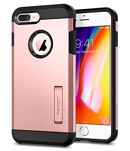 Spigen Tough Armor [2nd Generation] iPhone 8 Plus Case/iPhone 7 Plus Case with Kickstand Air Cushion Technology for Apple iPhone 8 Plus (2017) / iPhone 7 Plus (2016) - Rose Gold