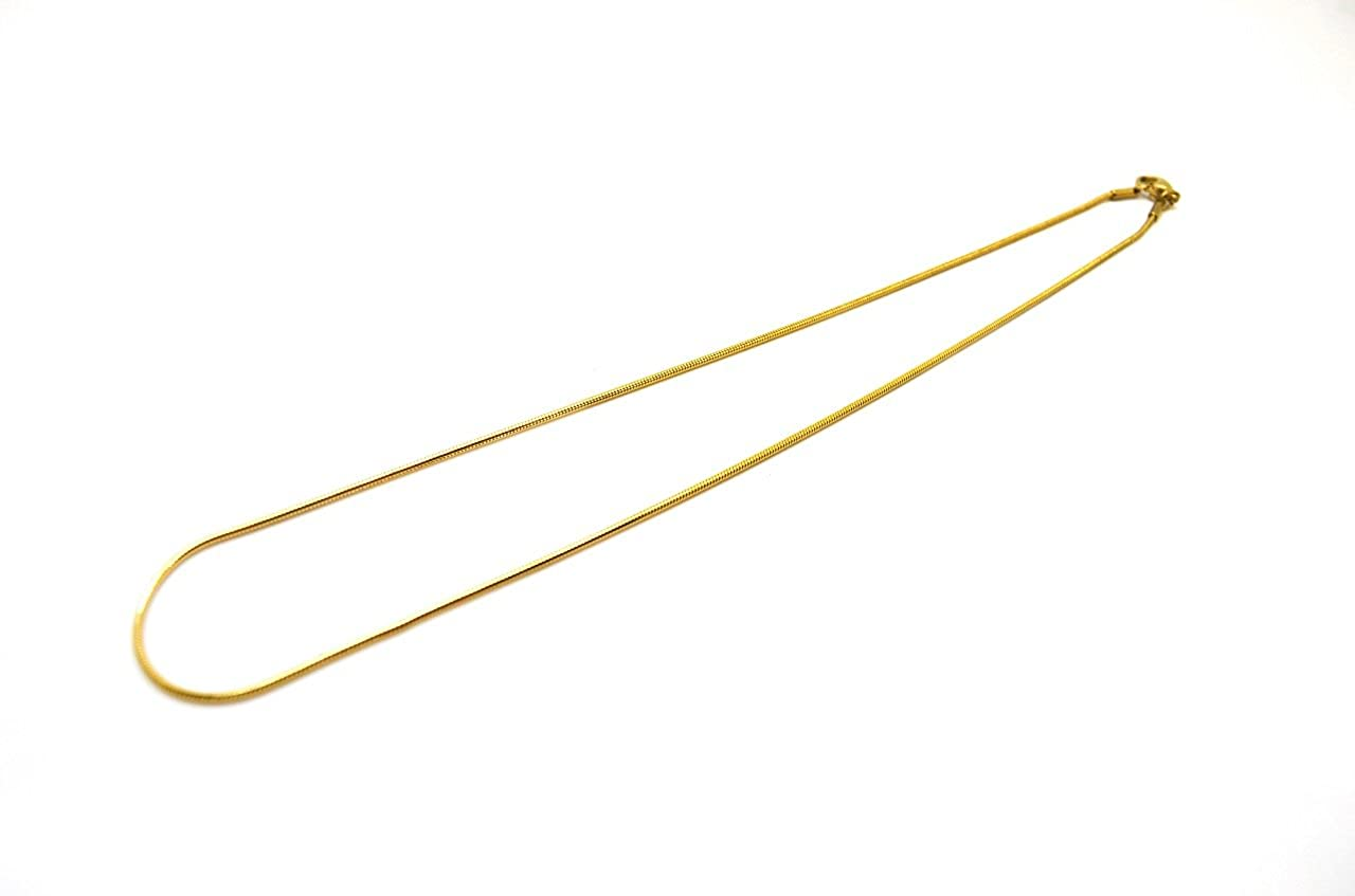 16 Inches, yellow-gold Millardo Jewelry Basic Collections Italian designed 1.2mm Wide 18K Gold Round Shaped Snake Chain Necklace