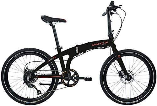 Dahon iOS D9 Obsidian Bicicleta Plegable Bicicleta Negro: Amazon ...