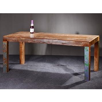 salesfever mesa de madera maciza de glace madera envejecida diferentes tamaos 180 x - Mesa De Madera Maciza