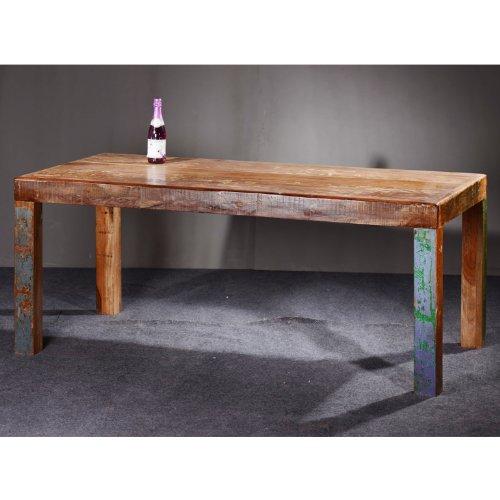 Indhouse   mesa de comedor estilo industrial en hierro y madera ...