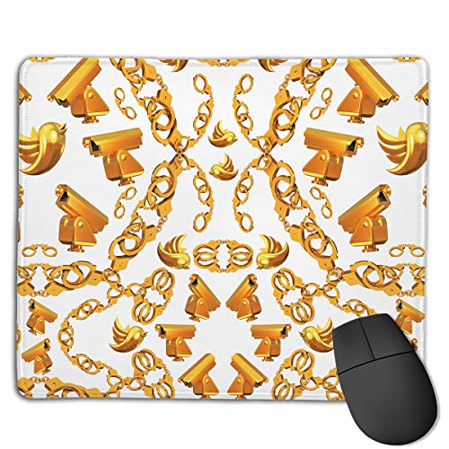 Teesofun Unique Mouse Pad Golden Age Crop Love Rectangle Rubber Mousepad 8.66 X 7.09 Inch Non-Slip Gaming Mouse Pad