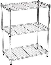 AmazonBasics 3-Shelf Shelving Storage Unit, Metal Organizer Wire Rack