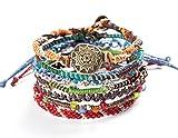 "Wakami Earth Bracelet, 6.5"" Multi Color Classic 7 Strand wa0389"