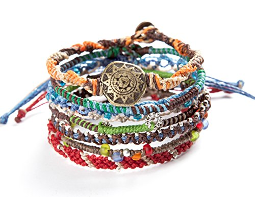 "Wakami Earth Bracelet, 6.5"" Multi Color Classic 7 Strand wa0389 from Wakami"