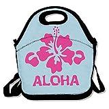 hiking water filters australia Mkajkkok Aloha Flower Hawaiian Lunch Tote Lunch Bags With Neoprene