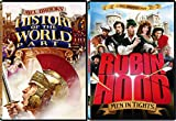 space academy dvd - Mel Brooks Comedy Double Feature - History of the World Part 1 & Robin Hood: Men in Tights 2-DVD Bundle