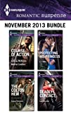 Harlequin Romantic Suspense November 2013 Bundle: The Colton Heir\Protecting His Princess\Deadly Contact\Course of Action