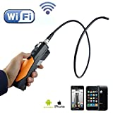 LightingPower Teslong HD 720p Handheld Wireless Wifi Inspection Endoscope Borescope Video Inspection 2.0 Mega Pixels Camera Soft Tube 1m