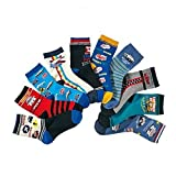 Boys Short Socks Fashion Plane Soft Cotton Basic Crew Kids Socks 10 Pair Pack