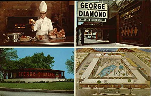 George Diamond Charcoal Broiled Steaks Chicago, Illinois Original Vintage Postcard - Curt Charcoal