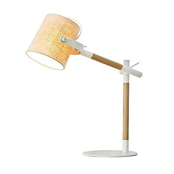 Teng Peng Lámpara de Mesa Dormitorio de Madera Cabeza de Cama ...