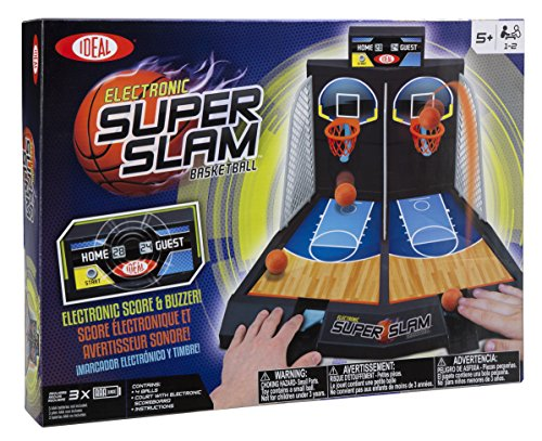 Ideal Electronic Super Slam Basketball Tabletop Game (Electronic Basketball Hoops)