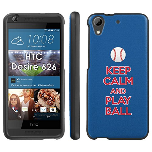 (Keep Calm and Play Ball - Chi Town - Mobiflare HTC 626 626s Slim Guard Armor Black Phone Case)
