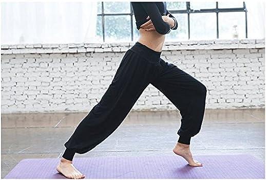 Leisial Pantalones de Yoga Algodón Suave Piernas Pantalones Anchos ...