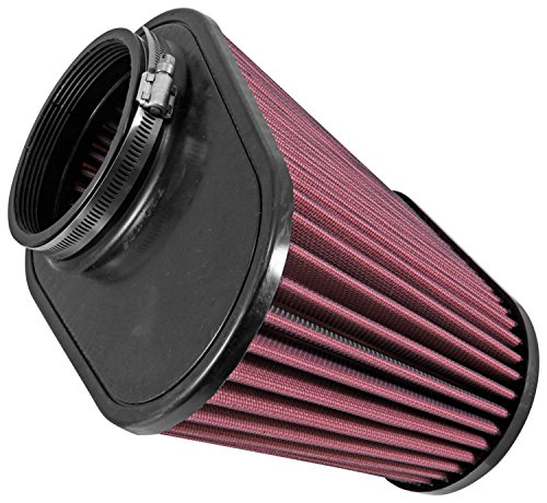 Airaid 720-128 Universal Clamp-On Air Filter: Oval Tapered; 4.5 in (114 mm) Flange ID; 7.375 in (187 mm) Height; 11.5 in x 7 in (292 mm x 178 mm) Base; 9 in x 4.5 in (229 mm x114 mm) Top by Airaid