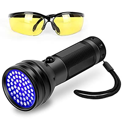 Black Light UV Flashlight, 51 LED Ultraviolet Black Light For Urine Detection For Pet Urine by ZC METAL