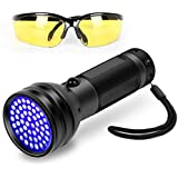 Black Light UV Flashlight, 51 LED Ultraviolet Black Light For Urine Detection For Pet Urine